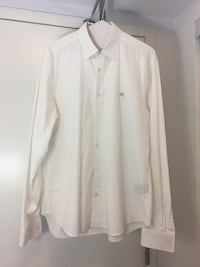 Burberry Mens Large White Dress Shirt
