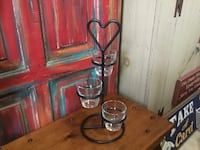 WROUGHT IRON THREE TIERS VOTIVE CANDLE HOLDER