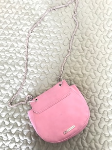 women's pink leather sling bag
