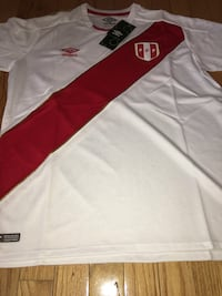 PERU 2018 World Cup national team soccer jerseys S M and L in stock Garfield, 07026