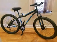 black and blue hardtail mountain bike Chicago, 60653