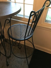 3 piece black iron patio table  Arlington
