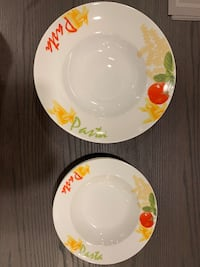 Set of Decorative Pasta Bowls
