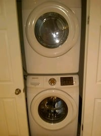 white front-load clothes washer and dryer set Mississauga, L5L 3H5