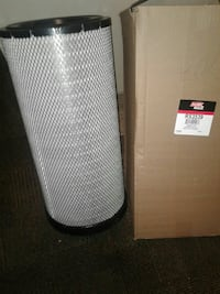 round black and gray air filter