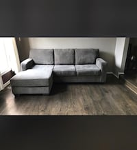 gray suede sectional sofa screenshot Arlington, 22209