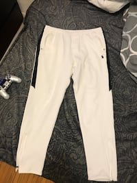White and black polo sport pants