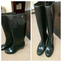 pair of black leather boots Brampton, L6X 1A2