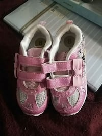toddler's pink-and-white shoes Springfield
