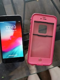 Mint condition iPhone 6 and pink life proof case