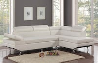 [CLEARANCE] Moderno White Sectional Houston, 77036