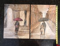 two brown and black abstract paintings Jacksonville, 32257