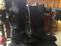 Pair of black leather boots negotiable Toronto