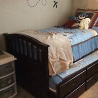 Twin Captains bed with twin pull out bed  La Mesa