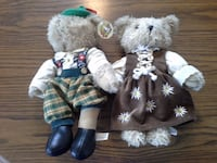 Pair of Gerhardshofen Bears Boy and Girl Germany Toms River