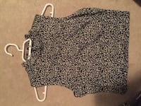 Black and gray floral sleeveless top