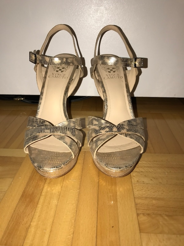 8df1e0e5f1d Used Gold vince camuto ankle strap open toe platform high heels for sale in  Vaughan - letgo