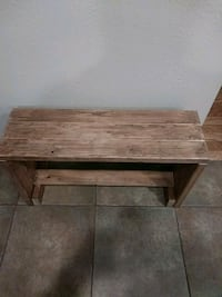 Rustic bench. Light walnut