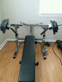 Leverage weight bench with 160lb of weights