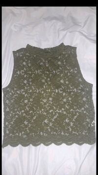 Laced Olive green top Sacramento, 95824