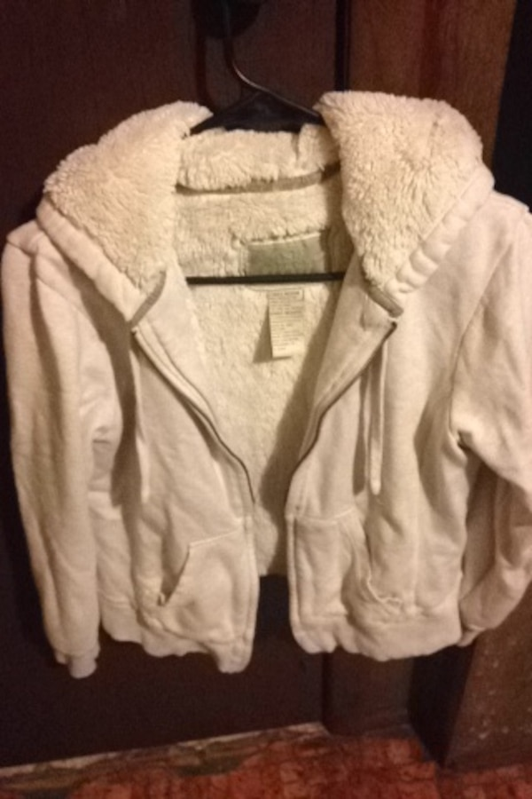 65308d94ecf656 Used white zip-up hoodie for sale in Flushing charter township - letgo