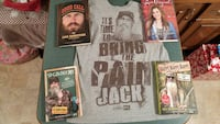 Duck Dynasty set of 4 books and adult med t-shirt