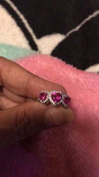 sterling silver ring with pink sapphire size 7 Kissimmee, 34746