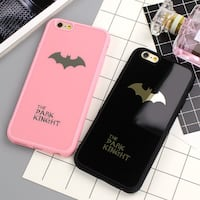 two pink and black Batman iPhone cases