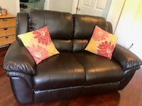 Black Leather Reclining Couch Gaithersburg, 20877