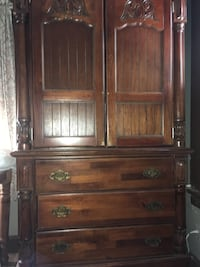 brown wooden cabinet with drawer 256 mi