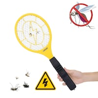 3000 Volt Electric Fly Swatter Mini Bug Zapper Outdoor | Fly Killer Indoor Electric Safe to use on Bugs Inside or Outside | Made from Durable ABS Material Size:1 Maryland