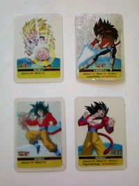 4 carte Dragon Ball Gt Milano, 20162
