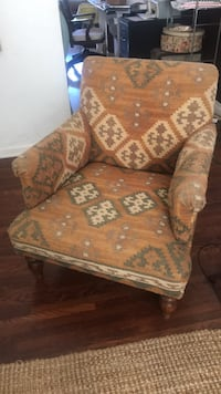 Brown and white floral sofa chair Los Angeles, 90019