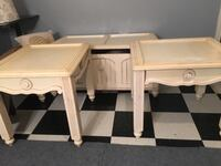 Two white wooden side tables Brownsville, 78520