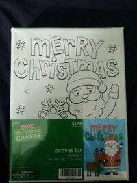 Christmas Crafts. Canvas kit.makes one.
