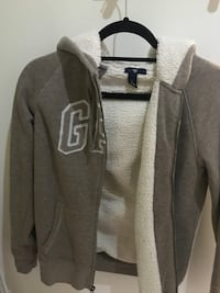 gray and white zip-up hoodie London, W3