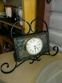 Heavy wrought iron and glass clock Summerdale, 36580