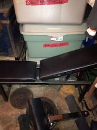 Adjustable bench with leg and preacher curl  Toronto, M5P