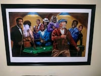 Framed comedy legends pool game painting Stafford Courthouse, 22554