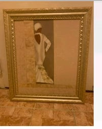 Wall painting gold frame excellent condition