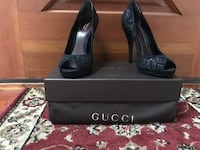 pair of black leather Gucci  stilettos with box New Hyde Park, 11040