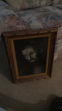Antique painting.   Rabbi. Done in charcoal by my uncle Irving levey. Can read about him on internet wrote books and invented a game. Beautiful picture excellent condition  one of a kind Columbus, 43228
