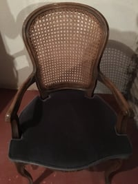 brown wooden framed brown padded armchair MARKHAM