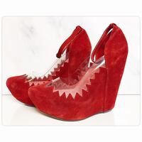 PRICE IS FIRM - Brand new jeffrey campbell red audrey platform wedge  Toronto, M4B 2T2