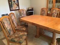 brown wooden dining table set Montréal, H8P