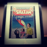 Vintage Shazam #2 framed comic London, N5Y 4L8