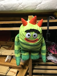 Green monster plush toy