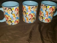 Disney princess mugs  Los Angeles, 91606