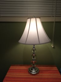 Glass bubble lamp with shade