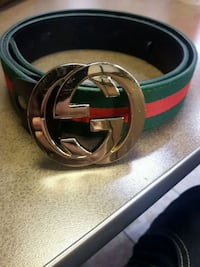 Authentic black and red Gucci leather belt 537 km